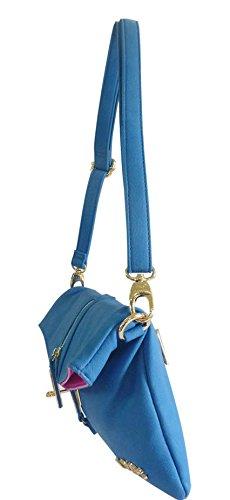 Saute Styles - Cartera de mano para mujer M azul