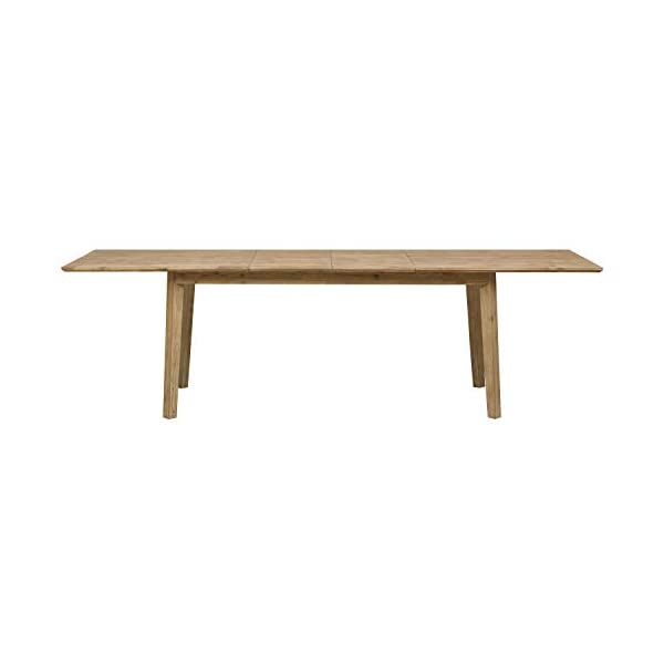 "Amazon Brand – Stone & Beam Rylee Modern Acacia Wood Dining Table, 71""-102""L, Gray-Wash Acacia"