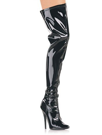 Black Patent Thigh High Boot - 14 B005D6S4N6 Parent