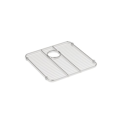Kohler 5184-ST Undertone/Ballad Bottom Basin Rack Iron/Tones Stainless steel Sink Rack, 13-3/8'' x 14-5/8''; Stainless steel