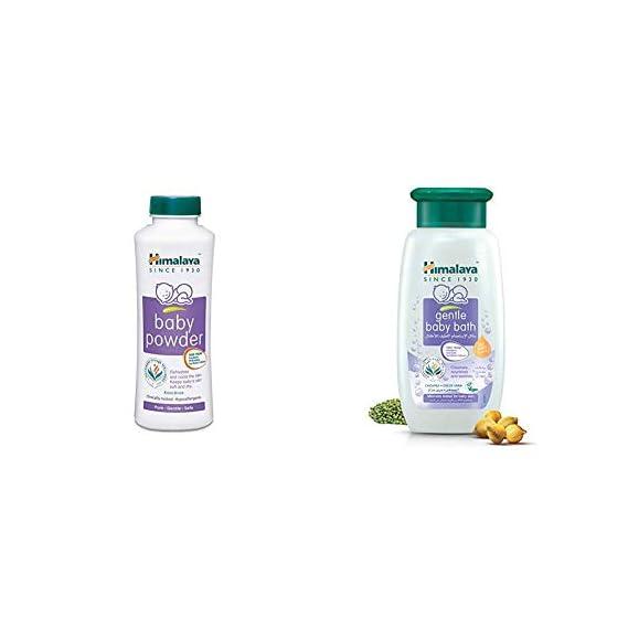 Himalaya Baby Powder (400g) & Himalaya Gentle Baby Bath (400ml)