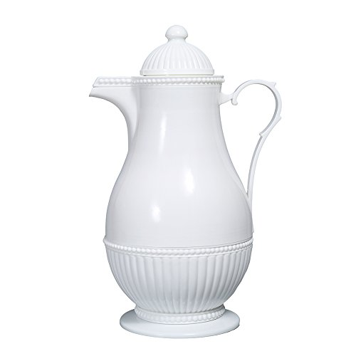 Delicately Designed Insulated Thermo Carafe 33.8Oz 1 Liter Home Style (White)