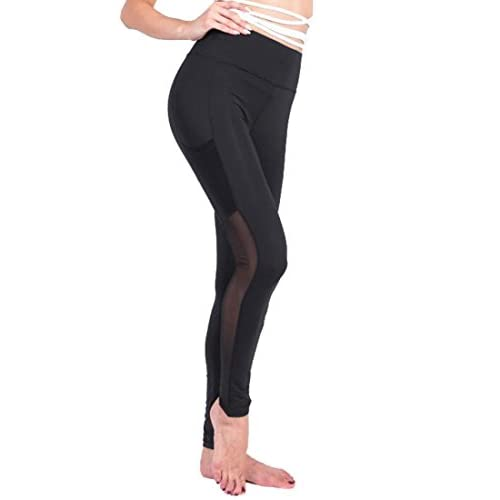 Hot Fensajomon Womens High Waist Compression Leggings Gym Workout Yoga Tights for cheap