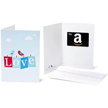 Amazon.com $100 Gift Card in a Greeting Card (Love Design)