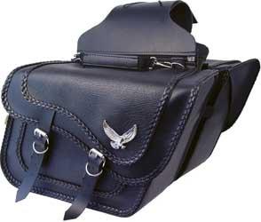 Willie & Max Gold & Silver Eagle Super Black Magic Collection Saddlebags SB736-05 ()