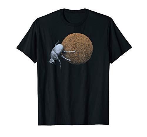 Dung Beetle Rolling Dung Ball  T-Shirt