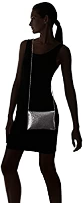 Jessica McClintock Patti on the Go Mesh Crossbody Clutch with Portable Cell Phone Charger