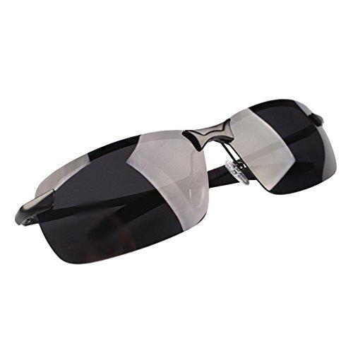 Sol Lente Hombre Métal Mujer HD Gafas Anteojos de Conducción Aviador en Negro Cadre Sunglasses LINNUO Polarizadas Eyeglasses B0wEq4w