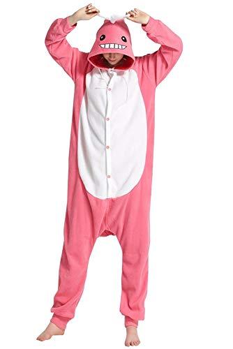 Apiidoo Halloween Christmas Adult Animal Pajama One Piece Cosplay Onesie Costume Pink Whale