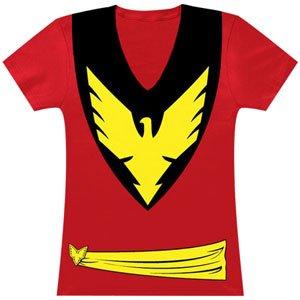Dark Phoenix Women's Costume T-Shirt- Slim Large