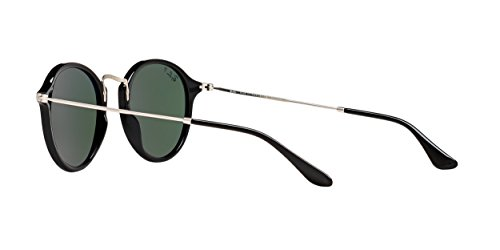 Ray-Ban Round Sunglasses (RB2447) Black/Green Acetate - Polarized - 49mm
