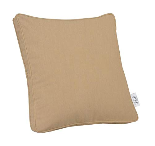RSH Décor Indoor ~ Outdoor Decorative Square Box Throw Pillow Made of Sunbrella Canvas Vellum ()