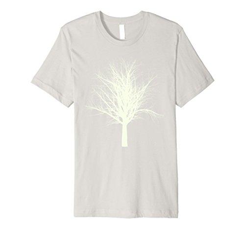 Mens Spooky Haunted Tree Halloween Costume Alternative T-Shirt Medium Silver