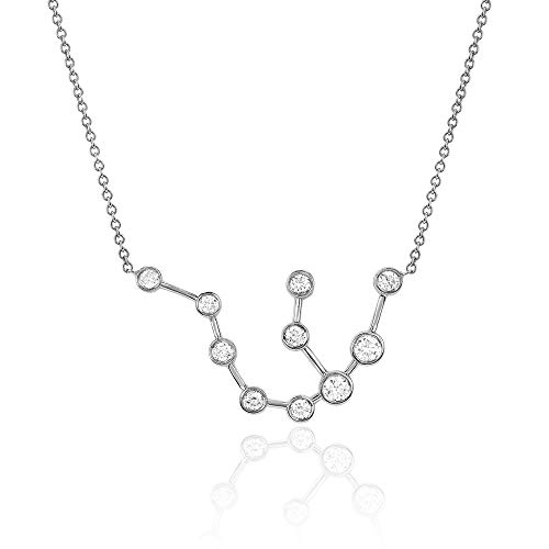 - espere Sterling Silver Zodiac Necklace Constellation Jewelry Birthday Gift Sorority Sister Gift [Aquarius - Jan 20 - Feb 18]
