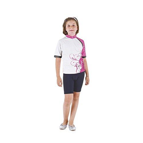 Briko Radsport Bike-Trikot kurzem Reißverschluss junior drei Taschen SEKT rosa 011731 SZiMJrPJ