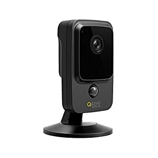 Q-See QCW4K1MCB16 | 4K HD Wi-Fi with iOS/Android App | Home Security Surveillance Cube Camera | Clear Night Vision up to 32 ft | PIR Heat Motion Detection | Two Way Audio | 16 GB SD Card, Black