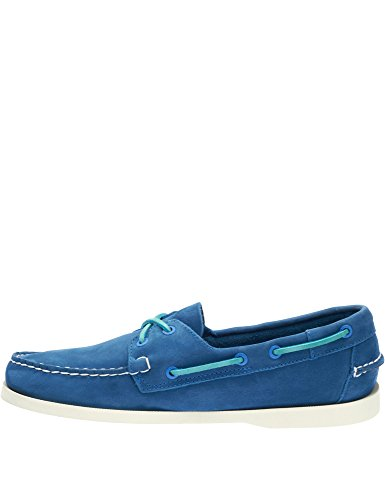 Men's Nubuck Leather Sebago Men's Docksides Shoes Blue Blue Leather v1dnFqd