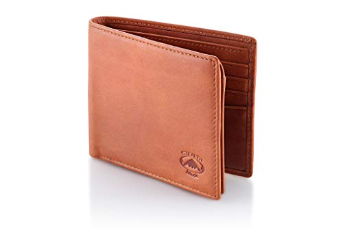 Stealth Mode Leather Bifold Wallet for Men With ID Window and RFID Blocking (Beige) by Stealth Mode (Image #2)