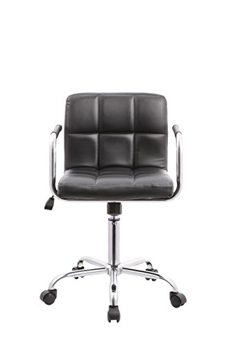 Hydraulic Lift Chairs : Pu leather hydraulic lift adjustable height swivel office
