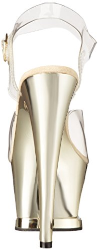 Pleaser - Sandalias mujer - Clear/Gold