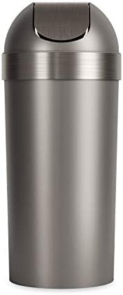 Umbra Venti Swing-Top 16.5-Gallon Kitchen Trash Large, 35-inch Tall Garbage Can for Indoor, Outdoor or Commerc