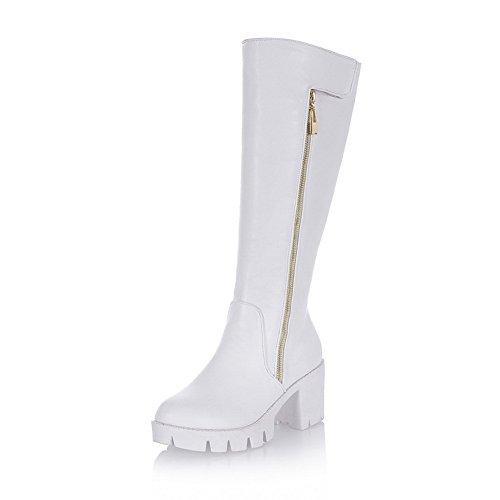 Resistant Casual Boots AdeeSu White Slip Urethane Platform Womens SXC01809 qFzwxZwaC