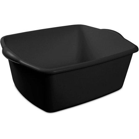 Brownie Costume Baker (Sterilite 18 Quart Dishpan, Black, Case of 8,)