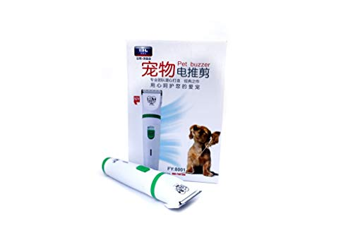 Pets Empire Low Noise Cordless Cat, Dog Grooming Rechargeable Pet Clipper Kit