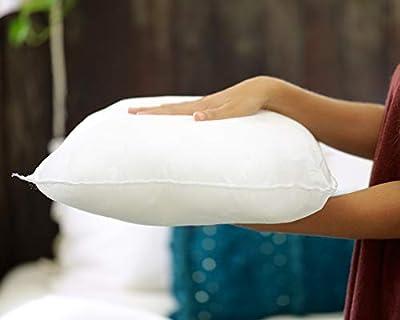 Foamily Premium Hypoallergenic Stuffer Pillow Insert Sham Square Form Polyester Standard/White