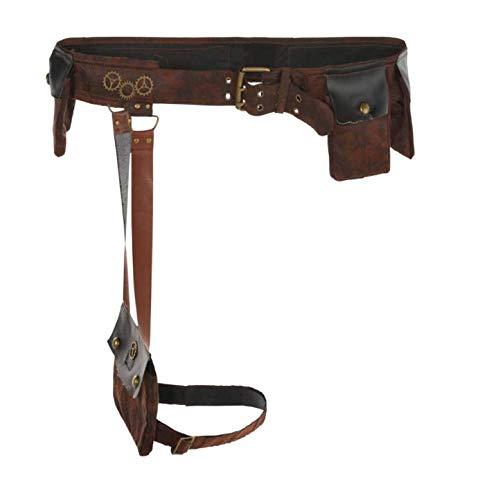 amscan Steampunk Belt Halloween Costume Accessory for Adults, One Size