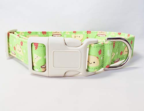 Cinco de Mayo Taco Handmade Fabric Dog Collar, adjustable, 100% cotton