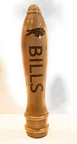 Buffalo Bills Engraved Pub Style Beer Tap Handle Natural