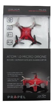 Propel Atom 1.0 Micro Drone Wireless Quadrocopter - Red