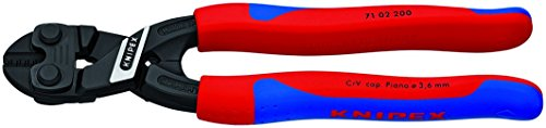 Action Lever Bolt Mini Cutter (Knipex 7102200 8-Inch Lever Action Mini-Bolt Cutter - Comfort Grip (Renewed))