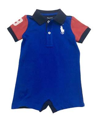 - Ralph Lauren Baby Boys Cotton Mesh Polo Shortall (Sapphire Star, 9 Months)