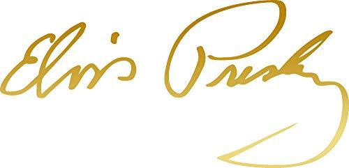 Elvis Signature Glasses - ANGDEST Signature Elvis Elvis Presley (Metallic Gold) (Set of 2) Premium Waterproof Vinyl Decal Stickers for Laptop Phone Accessory Helmet Car Window Bumper Mug Tuber Cup Door Wall Decoration