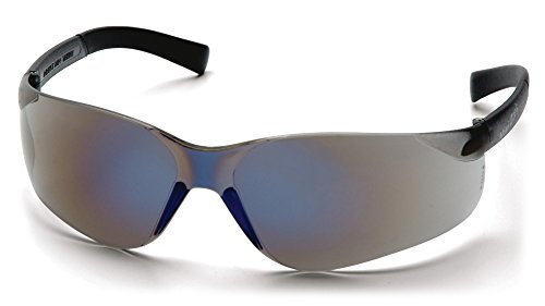 Blue Ztek Lens Mirror - Pyramex Mini Ztek Safety Eyewear, Blue Mirror Lens With Blue Mirror Frame