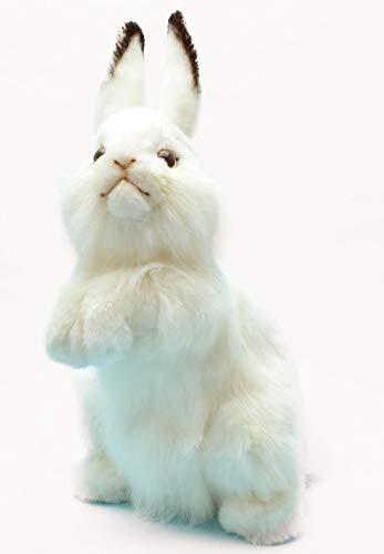 "Hansa Rabbit Plush Animal Toy, 13"", White"
