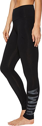 PUMA Women's Swagger Leggings, Cotton Black/Glitter, XL - Puma Tights