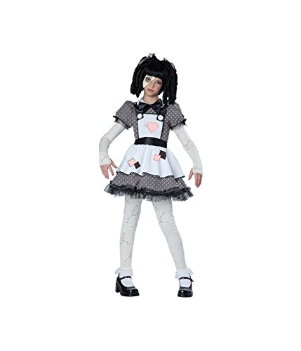 A Doll Costume For Halloween (California Costumes Haunted Doll Child Costume, Large)