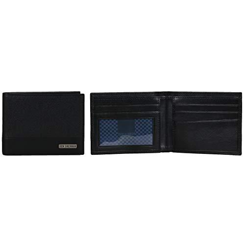 - Ben Sherman Men's 5-Pocket Bi-Fold Wallet, Black