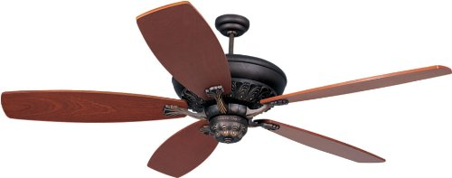Monte Carlo 5SIRB Traditional Ceiling Fan from St Ives Collection in Bronze/Dark Finish, Roman