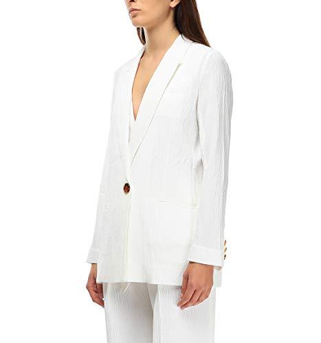 Jkvv044white Blazer Beckham Victoria Bianco Donna Cotone Ua8c7qw