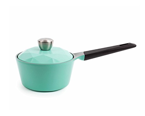 Neoflam Carat 1.5QT Ceramic Nonstick Saucepan in Fresh Green
