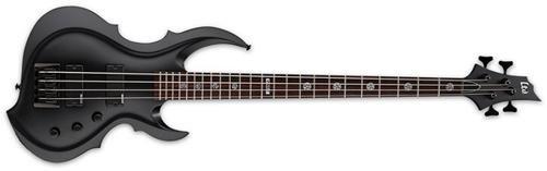 ESP LTD TA-204 FRX Signature Series Tom Araya Bass Guitar, Black Satin