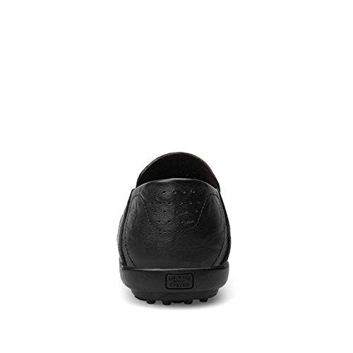 Scarpe 2 nero Pelle Casuale Uomo Mocassini di da Insun x7tOqt