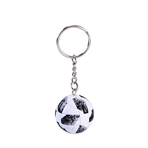 Museya Soccer Keychain Metal Ball Keyrings Birthday Christmas Thanksgiving Gift Bag Wallet Pendant Ornament -