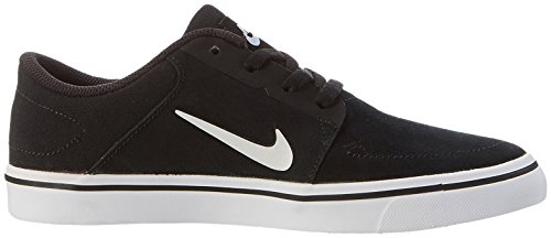 Nike SB Portmore (GS), Zapatillas de Skateboarding Para Niños Negro / Blanco (Black / White-White)