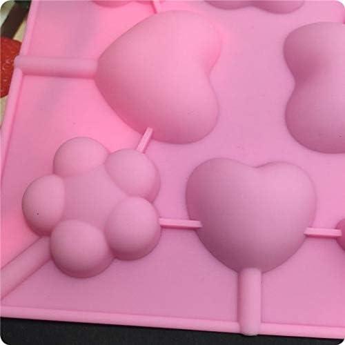 molde para hornear 1 pieza 4 piruleta de agujeros Paleta de 4 agujeros molde de silicona en forma de barra de 4 agujeros molde de chocolate con forma de caramelo Sina 4