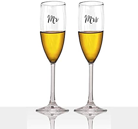 engagement gift stemless champagne flute rose gold champagne flute Bride champagne flute bridal shower champagne glass bride and groom